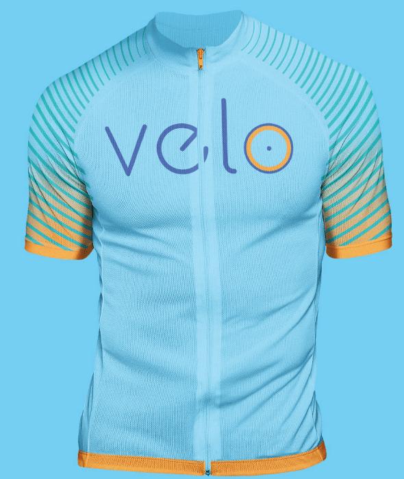 camisa de ciclismo com logo da veloseguro