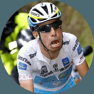 ciclista chorando