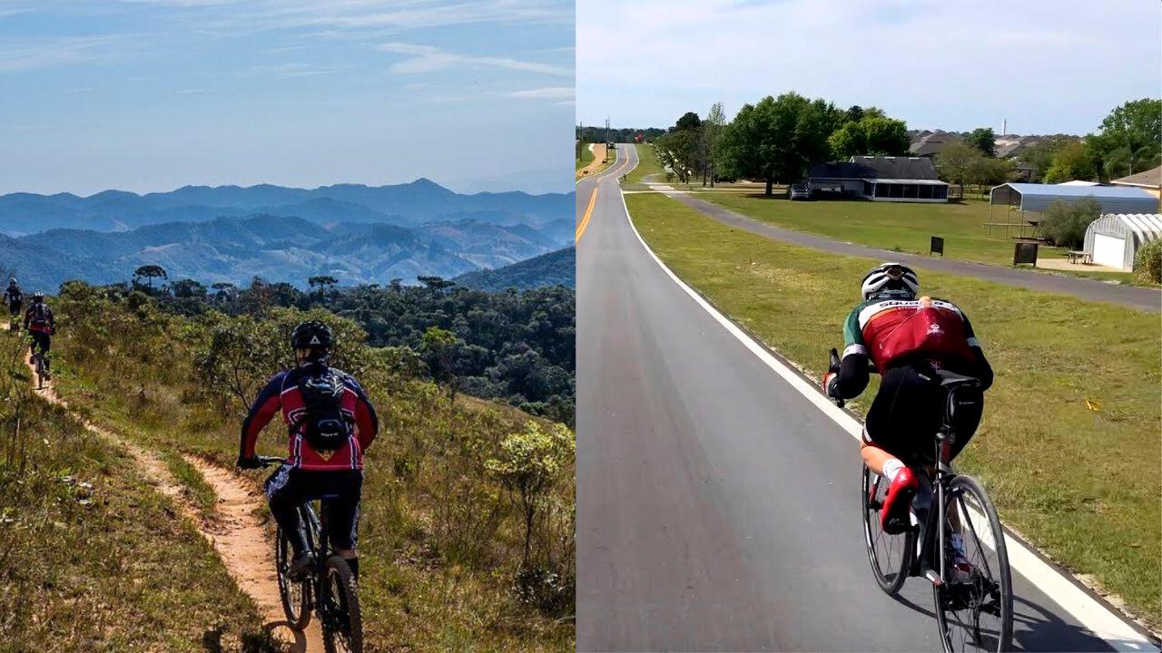 bicicleta para terra ou asfalto